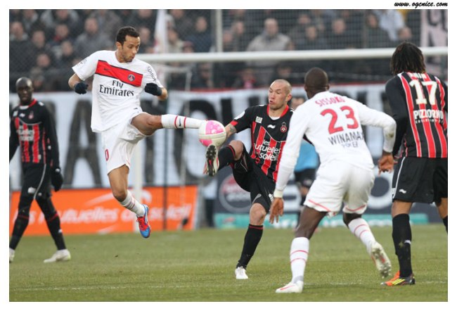 L'année dernière, Nice (alors 18ème) avait accroché le PSG (0-0)                                             ogcnice.com