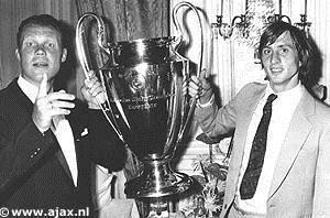 Rinus Michels, à gauche, et Johan Cruyff, à droite : les pères du football total. Photo ajax.nl