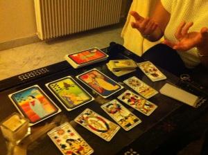 Les cartes de tarot : l'outil de la voyante. Photo Erik Chiaramonti