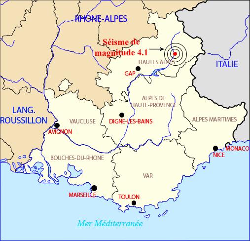 Le séisme a été ressenti jusqu'à Nice et dans la plaine du Var.