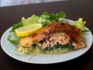 Le Koulibiak est une tourte de poisson, de viande ou de légumes. Dans sa recette originale, il est fourré au saumon, champignon et aneth.