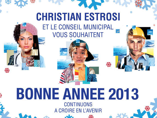 Les vœux de la mairie pour cette année 2013  © Mairie de Nice
