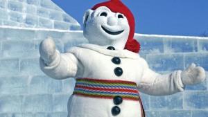 Le Bonhomme Carnaval est la mascotte du Carnaval de Québec. Photo : DR