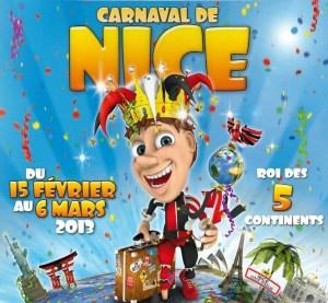 L'affiche officielle du Carnaval de Nice 2013. Image : DR