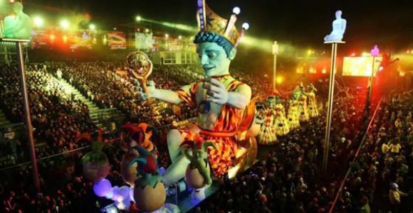 Le Roi du Carnaval, pièce principale du défilé. Cette année, il régnera sur les 5 continents. Photo: DR