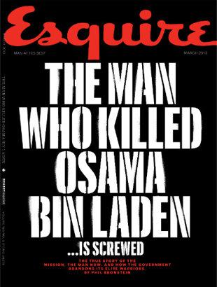 La couverture du magazine Esquire du mois de mars 2013. Photo : DR