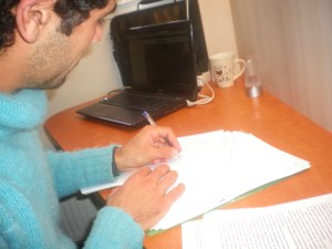 Sameh au travail. Photo : L.D.