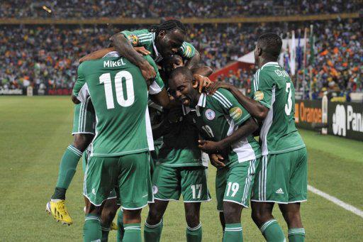 Les Super Eagles célèbrent leur troisième victoire en finale de la Coupe d'Afrique des Nations. Photo : AP