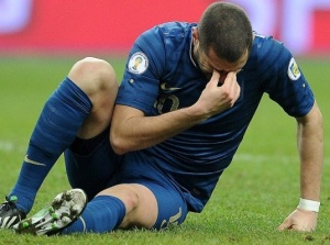 Karim Benzema en plein doute avec l'équipe de France. Photo : DR