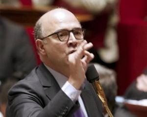 Pierre Moscovici présente la loi sur la réforme bancaire. Photo : AFP