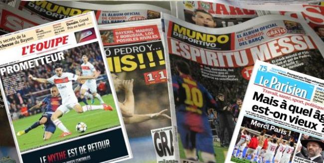 FC Barcelone-PSG, un match qui a fait couler beaucoup d'encre des deux côtés des Pyrénées. Photo : AB
