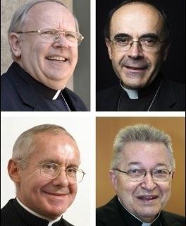 Les quatre cardinaux français présents lors du Conclave. Photo : DR