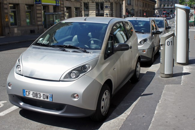 La Bluecar du groupe Bolloré. Photo : DR