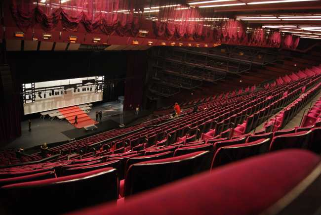 Le Grand Auditorium...vide ! Photo : VV