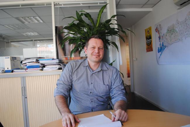 Christian Frank, 43 ans, responsable du club des entrepreneurs de Cannes.  Photo : N.G.