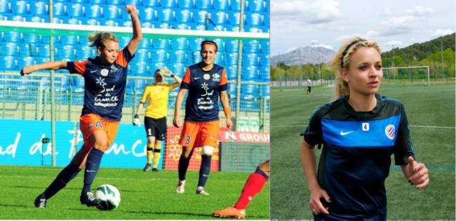 La jeune femme a des rêves plein l'esprit, et veut continuer à grandir professionnellement avec son club, mais aussi sous le maillot bleu. Photo : DR
