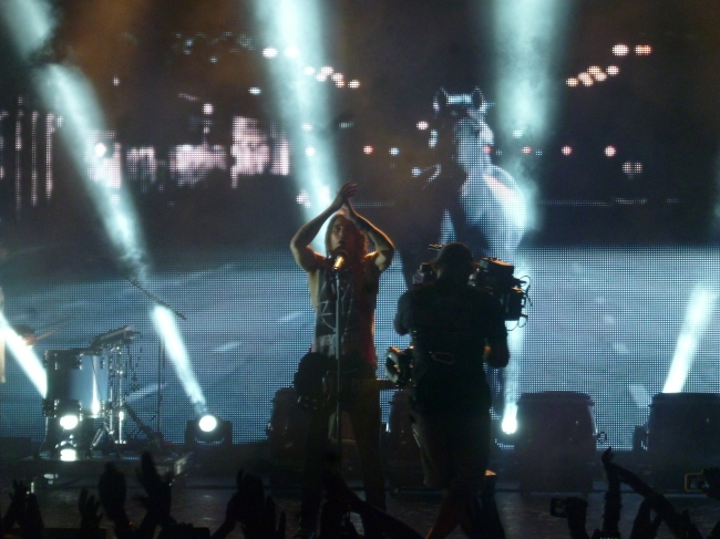 Deux chansons ont été filmées durant le live. Photo : Juliette Redivo