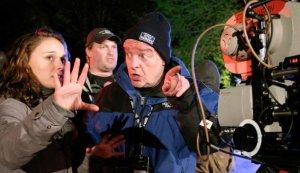 Jean-Louis Bompoint en 2010, sur le tournage d'une séquence du film New-York I love you. DR