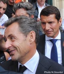 David Lisnard, au second plan, a écouté presque religieusement les paroles d'un Nicolas Sarkozy leader naturel de la droite. (Photo N.Gourdol)