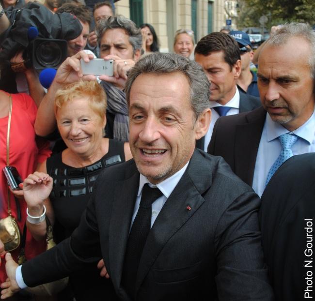 L'ancien président ne s'est pas trompé au moment d'inscrire son passage à Cannes sur son calendrier. (Photo N.Gourdol)