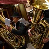 Le son des cuivres a résonné dans les rues de Cannes. Crédit : V.V.