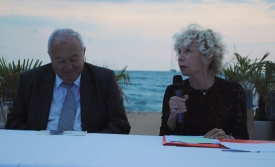 Le maire de Cannes Bernard Brochand et la présidente Anny Courtade sont revenus sur le caractère exceptionnel du club.(Photo N.GOURDOL)