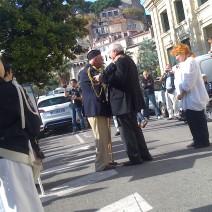 Bernard Brochand est descendu pour saluer Georget Daumas. Crédit : V.V.