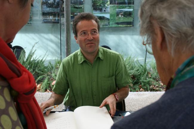 Pendant le Festival de Mouans-Sartoux Martin Hirsch a pu échanger avec son public. (crédit : R.A)