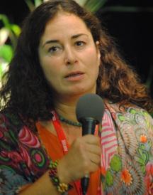 """Pinar Selek,la présidente du Festival, est venue présenter avec son optimiste communicatif """"La Maison du Bosphore"""", éditions Liana Levi). (Photo Nathan Gourdol)"""