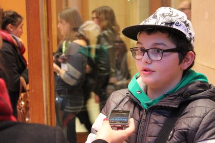 David, 12 ans et l'envie de faire de la photo (Crédit photo : J.M)