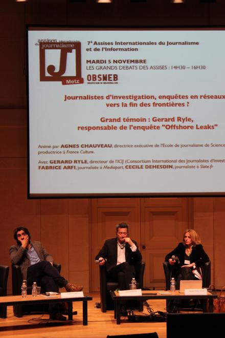 Fabrice Arfi, Gérard Ryle et Agnès Chauveau. Crédit : C.P.