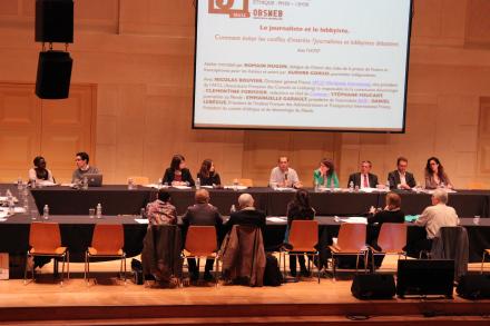 Mardi 5 novembre, entre éthique, déontologie et lobbys, les professionnels posent une réflexion (Crédit photo: C.P)