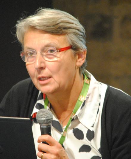 Christine Leteinturier, chercheuse à l'Université Panthéon Assas Paris II, est revenue sur l'évolution récente des équipes rédactionnelles. (Photo Nathan Gourdol)