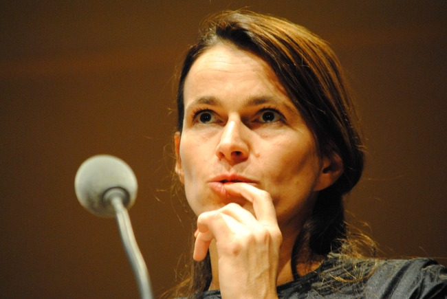 Aurélie Filippetti a tenté de clarifier son projet de loi sur le secret des sources. (Photo Nathan Gourdol)