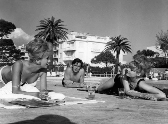 Alain Delon et Cannes, une histoire d'amour qui débute lors du tournage. D.R.