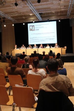 L'avenir des médias africains francophones était également au coeur des débat, mardi (Crédit photo : Marion Mellinger)