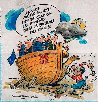 Bien que la Turquie travaille depuis plusieurs années pour adhérer à l'UE, elle reste bloquée sur le quai au même moment où l'idée d'une intégration prend le large dans les Etats membres. (D.R.)