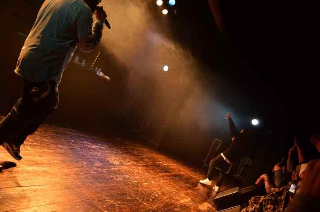 Gro Mo et Nemir sur les planches de la MJC Picaud. Crédit : Victor Vasseur