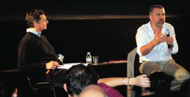 Philippe Torreton, hier matin, répondant aux questions du public au cinéma les Arcades. (A.B.)