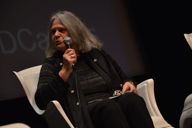 """Françoise Dastur : """"Le secret est perméable et finit par être révélé par des signes et des indices"""" (Crédit photo : Victor Vasseur)"""