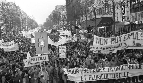 La marche pour l'égalité et contre le racisme de 1983 a connu un succès inattendu. (Crédit photo : AFP)