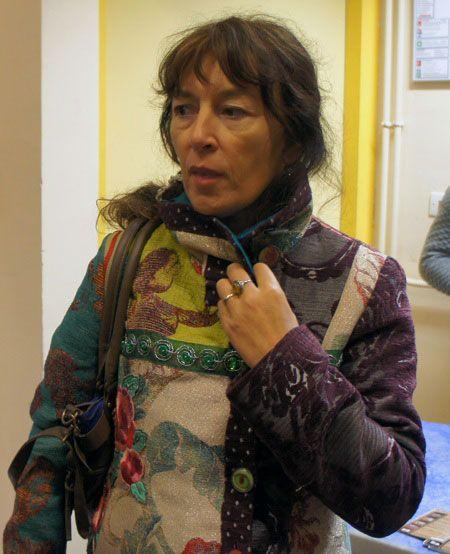 Marie Laure Mahe, une des ''marcheuses'' originelles, a écrit le livre « La Marche ». (Crédit photo : Laurent Burlet/Rue89Lyon)