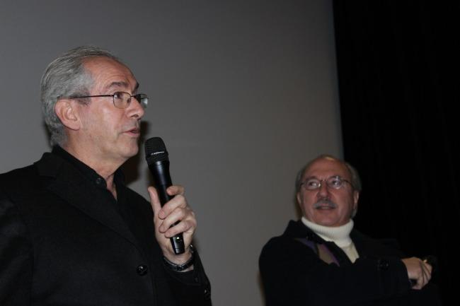 Gérard Camy (avec François Lapérou) : « sur les quarante films que j'ai visionnés pour la sélection, je me suis rendu compte qu'il y avait toujours un problème de secret.» (C.P.)