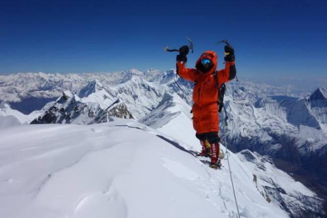Yannick Graziani au sommet de l'Annapurna / Source : D.R.