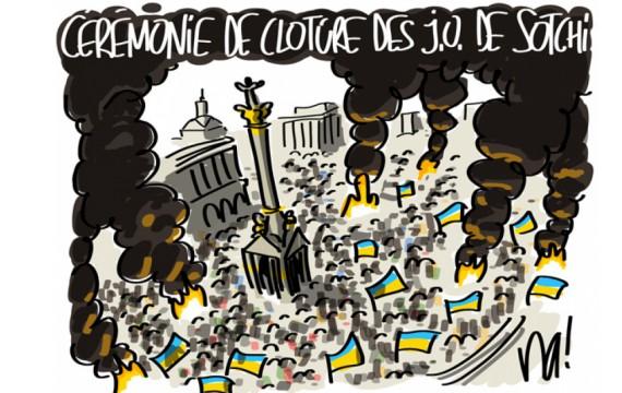 L'Ukraine à feu et à sang pendant les JO (Crédit photo : D.R.)