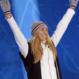 Chloé Trespeuch a fini troisième lors de la course de snowboardcross. (Crédit photo : AFP)