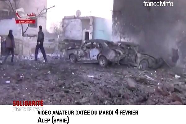 Vidéo faite par un « journaliste-citoyen » (Crédit photo : Francetv info)