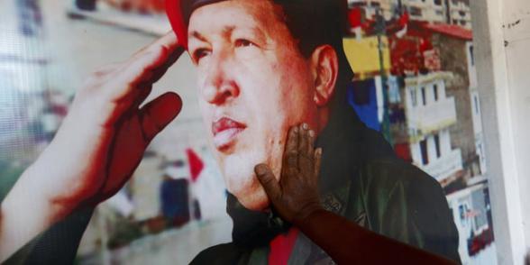 « Le 5 mars dernier, le Venezuela commémorait la mort d'Hugo Chávez, un an après. » Crédit photo : humanite.fr