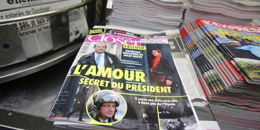 La une du magazine Closer, le 10 janvier dernier. (Crédits : AP/Remy de la Mauviniere)