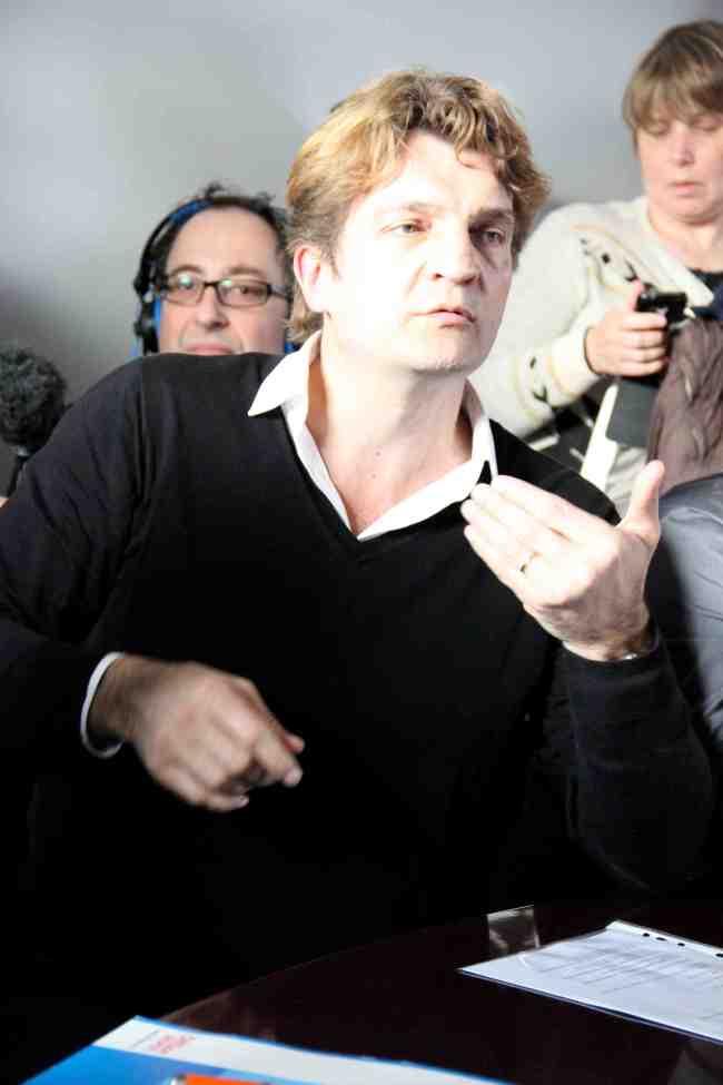 Fabrice Rousselot, directeur de la rédaction de Libération, était l'un des six participants au débat sur l'avenir de la presse. (Crédit photo : Eloïsa Patricio)